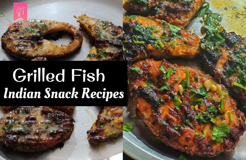 Indian Snack Recipes: Grilled Fish with Lemon Butter Sauce